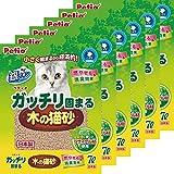 ペティオ ガッチリ固まる木の猫砂 ケース販売 7LX6