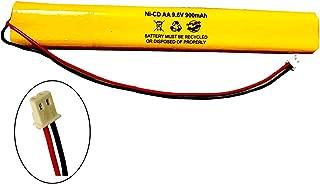 BBAT0043A Unitech BAT9.6V700 AA900MAH 9.6V ELB-B003 Lithonia ELB-B004 9.6v 900mAh Ni-CD Battery Pack Replacement for Exit Sign Emergency Light Fire Batteryhawk, LLC