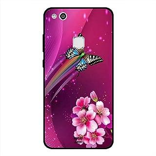 Huawei P10 Lite Case Cover Pink Floral Multicolor Butterfly, Moreau Laurent Premium Phone Covers & Cases Design