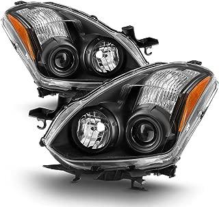 ACANII - For Black Headlamps 2010-2013 Nissan Altima 2-Door Coupe Halogen Projector Headlights Driver + Passenger Side