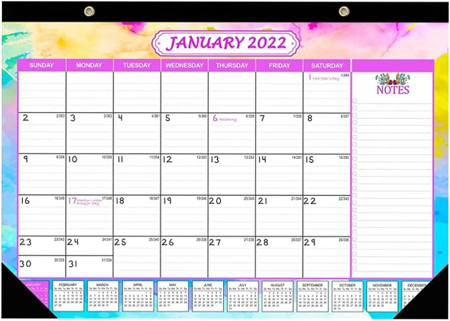 Kisangel 1Pc 2022 Calendar- Monthly 2021new shipping free 12 Planner Calendar x Same day shipping Wall