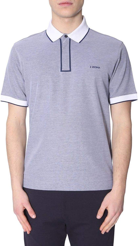 Z ZEGNA Men's ZZ620VS306602 Grey Cotton Polo Shirt