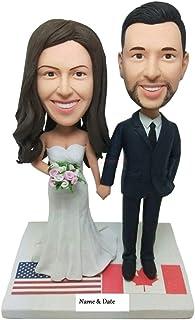 Personalizzato Cake Topper Personalizzato Bobble Head Figurine Wedding Topper Personalizzato Cake Topper Regali di nozze p...