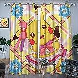Accesorios de baño cortina art deco kawaii mágico pikachu dibujo de dibujos animados abstracto arte casero de elegantes cortinas de dormitorio 157,5 x 182,8 cm
