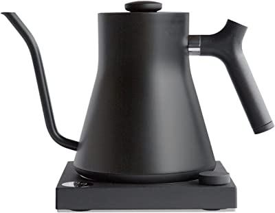 Fellow Stagg EKG Electric Gooseneck Kettle - Pour-Over Coffee and Tea Pot, Stainless Steel, Quick Heating, Matte Black, 0.9 Liter