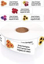 Floral Posy Assorted Rolled Address Labels with Elegant Plastic Dispenser