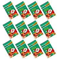 NUOBESTY 1セットクリスマス巾着袋クリスマス要素印刷小さなプラスチックポーチお菓子お菓子小さなアイテムホルダーバッグクリスマスツリー装飾ホームショップグリーン