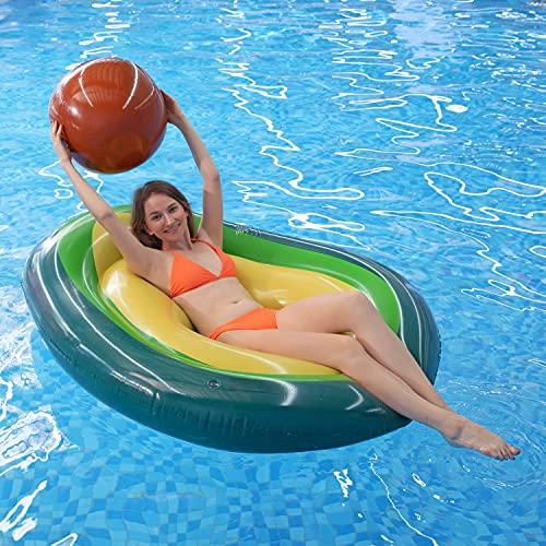 MiiDD Gonfiabile Gigante Avocado Galleggiante per Unisex Estate Nuoto Giocattoli in Piscina Spiaggia Festa in Piscina, Gonfiabili con Valvole Rapide