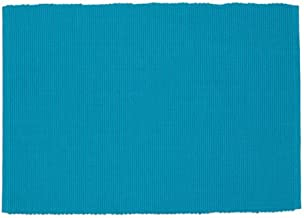 Design Imports Baja Cantina Cotton Southwest Table Linens, Placemat 13-Inch by 19-Inch, Turquoise