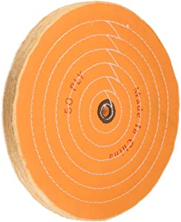 uxcell 12-Inch Cotton Buffing Wheel Polishing for Bench Grinder Tool 16mm Arbor Hole