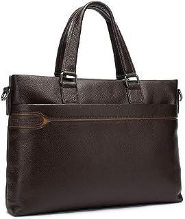 DQMSB Mens Bag Business Briefcase Fashion Tote Leather Shoulder Crossbody Bag