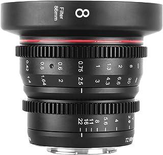 Meike 8mm T2.9 Mini Fixed Prime Manual Focus Wide-Angle Cinema Lens for M43 Micro Four Thirds MFT Mount Cameras BMPCC 4K Z...