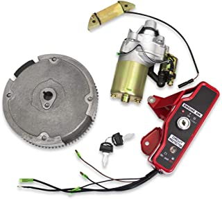 Everest Parts Supplies Compatible with Honda GX160 GX200 5.5HP 6.5HP Electric Start Kit Starter Motor W/Solenoid Ignition Switch Box W/Keys