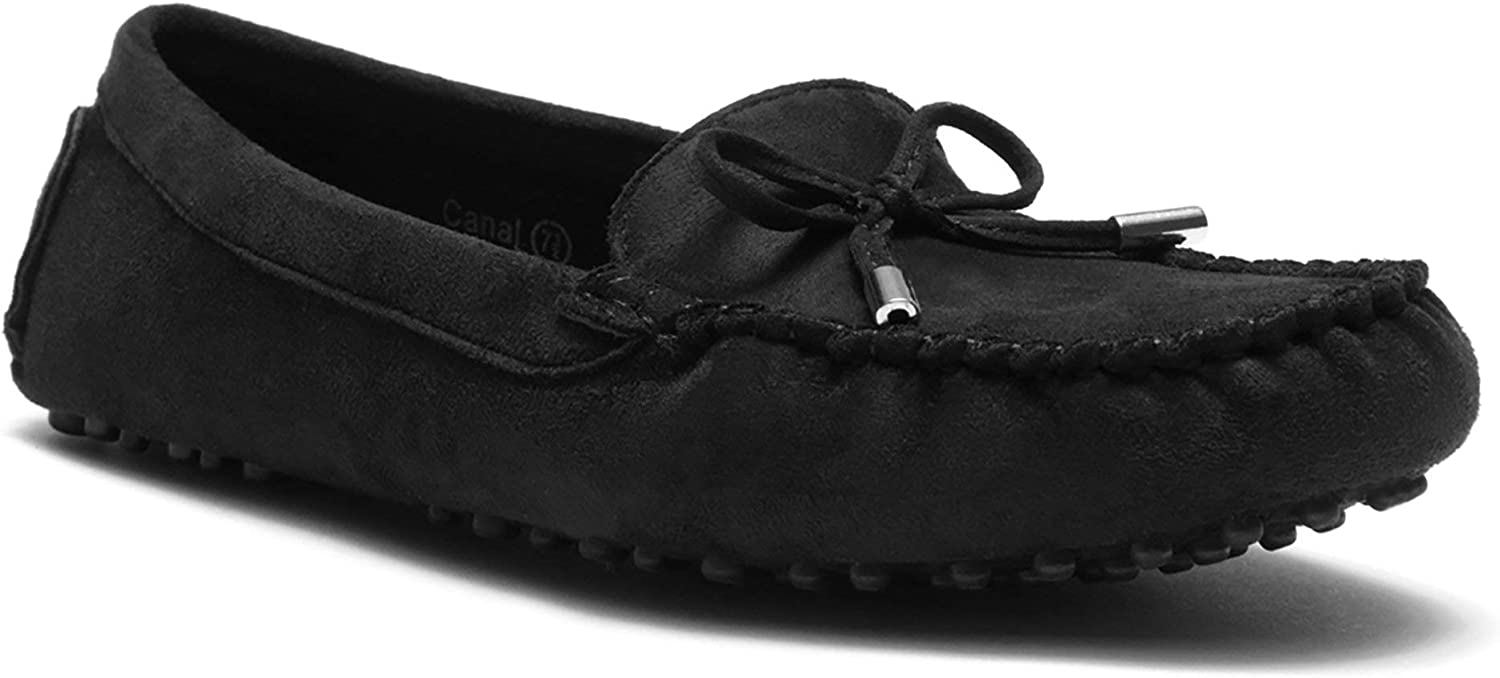 Herstyle Canal Women's Casual Bowknot Moccasins Driving Loafers Slip on Flat shoes
