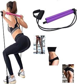 BAOLONG Yoga Pilates Stick Total Body Workout Bar, Stretch,Twisting,Sit-Up Bar Resistance Band,Portable Home Gym Workout P...