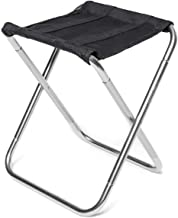 Camping Fishing Chair Portable Camping Picnic Beach BBQ Folding Stool (Color : Gold) leilims (Color : Silver)