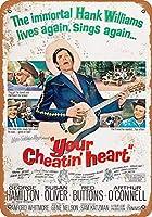 2個 Your Cheatin 'Heart Rust Metal Sign Man Cave Metal Sign8X12インチ