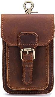 Morbuy Cinturón Bolso de Cintura Hombre, Multiusos Cuero Genuino Vertical Riñonera para Casual Deporte Senderismo de Viaje