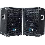 Grindhouse Speakers - GH10L-Pair - Pair of Passive 10 Inch 2-Way PA/DJ Loudspeaker Cabinet - 600 Watt each Full Range PA/DJ Band Live Sound Speaker