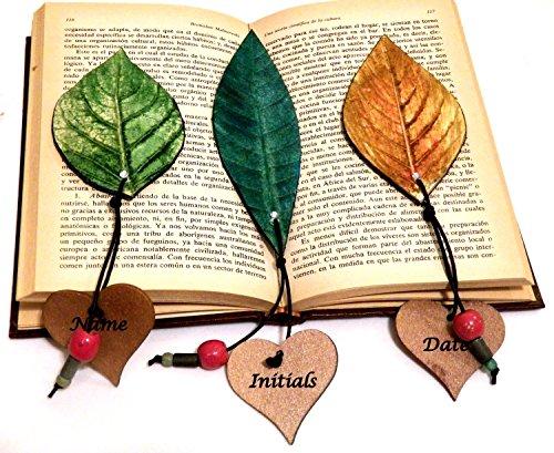 Set 5 segnalibri, Preferiti personalizzati, Segnalibro personalizzato, Accessori per libri, Amore del libro, Ringraziamento regalo, Nome segnalibro, Regalo di graduazione