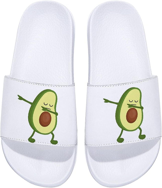 Avocado Green Food Men's and Women's Comfort Slide Sandals Indoor Outdoor