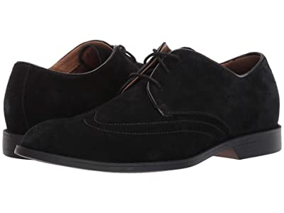 Stacy Adams Wickersham Wing Tip Oxford (Black Suede) Men