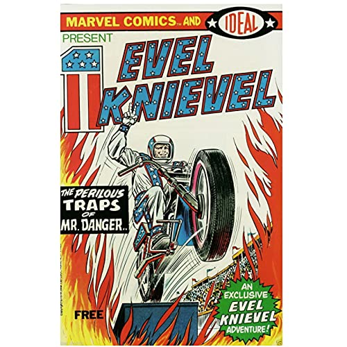 Jhmjqx Vintage Evel Knievel Silk Poster Wall Decor Room Painting for room aesthetic 50x70 cm x1 No Frame