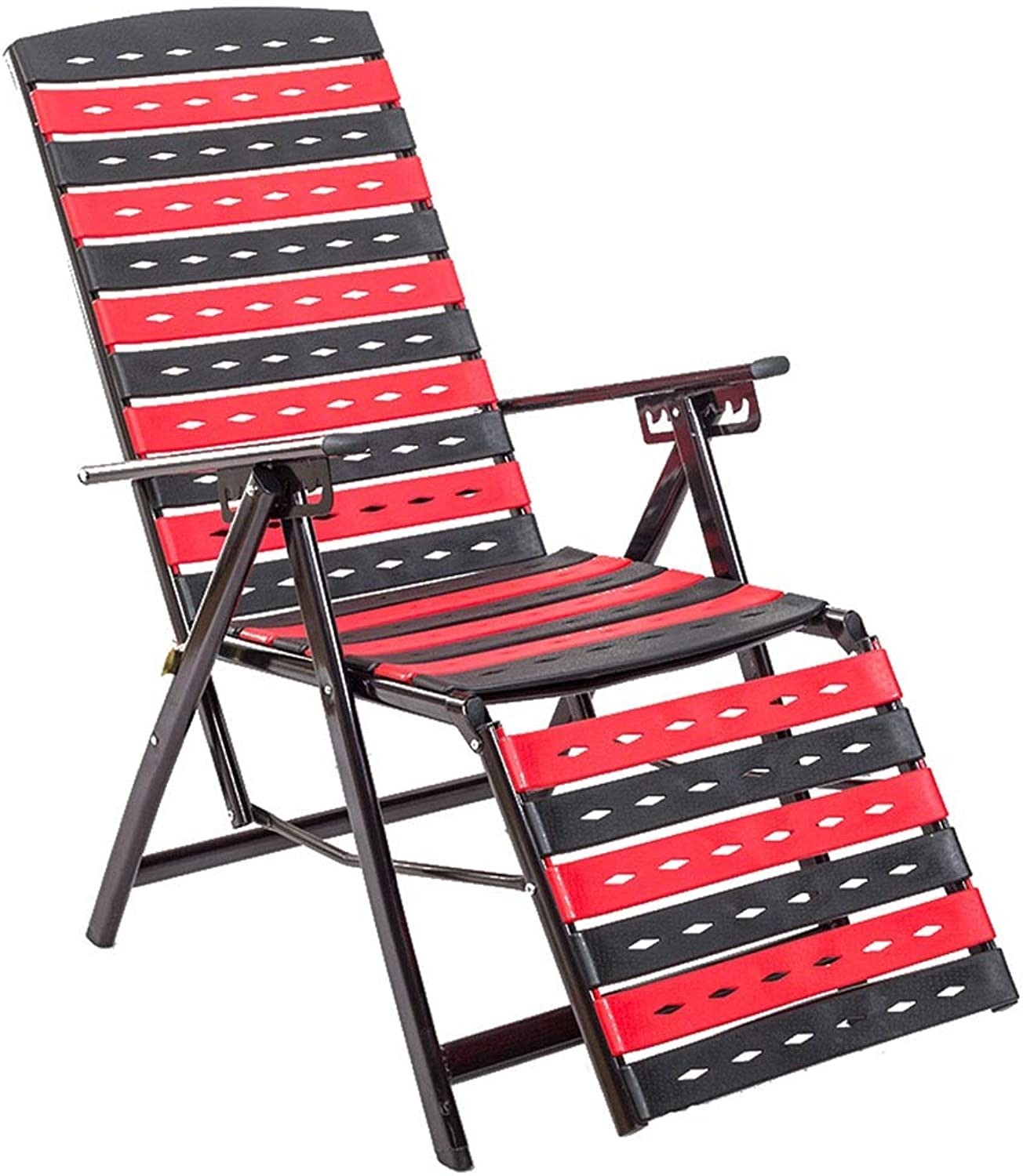 Recliners Sun Lounger Garden Chair Office Lunch Break Chair Outdoor Portable Camp Bed Adjustable Recliner Home Balcony Chair Can Bear 150 Kg (color   Red, Size   50  109cm)