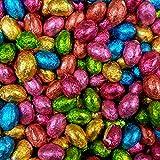 Incartati individualmente con carta stagnola Cioccolato al latte solido Perfetti per Pasqua & Idee Regalo Altre dimensioni disponibili 1 Sacchetto sigillato da 1 Kg contiene circa 200 ovetti.