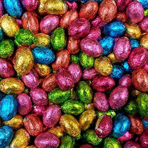 Ostereier aus Milchschokolade - in Folie verpackt - für Ostereiersuche & Geschenke - 1kg (ca. 200 Eier) - A1