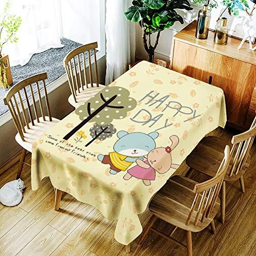XXDD Mantel para Cachorros, Mantel con patrón de ratón de Dibujos Animados creativos, cómodo, Impermeable, Mantel para el hogar, Cubierta A9 150x210cm