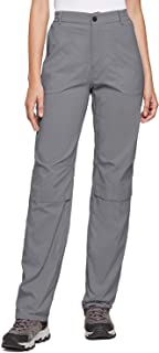 BALEAF Women's Hiking Roll Up Convertable Pants UPF 50 Stretch Outdoor Pants Water Resistant for Everyday Wear