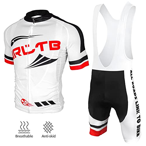 Arltb Cycling Jersey and Bib Shorts Set Bicycle Bike Short Sleeve Jersey  Clothing Apparel Suit Padded 702c4d3b7
