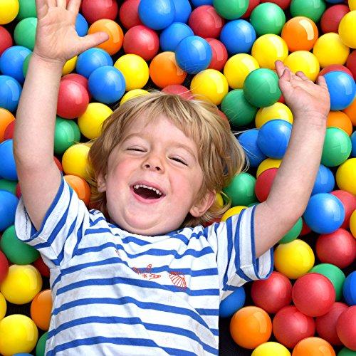 Infantastic® Balles Colorées en Plastique - Ø 5.5 cm, sans Plastifiants, Rouge, Bleu, Jaune, Vert, Orange, Set de 100/200/300/500/1000/2000 - Boules de Jeu, Piscine, pour Enfants, Bébé