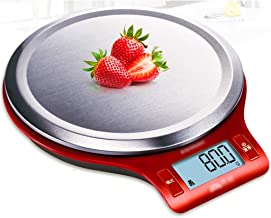 CCJW Kitchen Scale Digital/Home Baking Electronic Scale/Remove Weight Function/Automatic Shut Down/High Precision (Color : Red)
