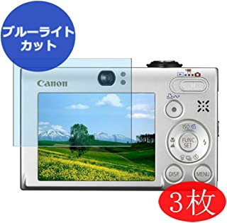 【3 Pack】 Synvy Anti Blue Light Screen Protector for Canon IXY Digital 25 is/PowerShot SD770 is Digital ELPH/Digital IXUS 85 is Screen Film Protective Protectors [Not Tempered Glass]