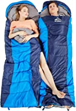 Hewolf Camping Sleeping Bag for Adults - Lightweight Waterproof Compact Backpacking Sleeping Bags with Compression Sack