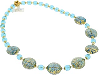 GlassOfVenice Murano Glass Necklace Ca D'oro - Aqua