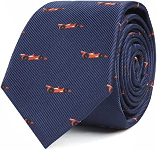 Sports & Speciality Ties | Neckties for Men | Woven Skinny Neck Ties | Present for Work Colleague | Bday Gift for Guys