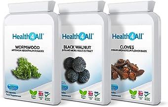 Wormwood Black Walnut Cloves Digestive Health Set 3×90 Capsules Vegan Made by Health4All Estimated Price : £ 21,99