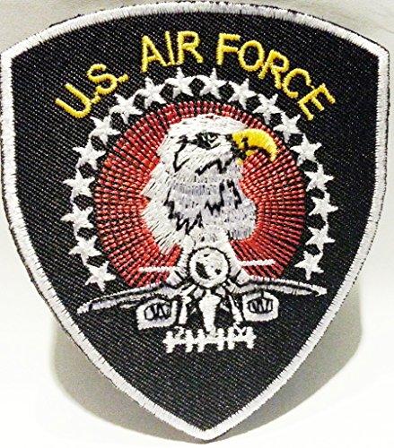 b2see Militär Aufnäher für Jacken Jeans Kleidung Bügelbilder Flicken Stoff Patch Kleider Patches Aufnäher zum Aufbügeln US AIR Force 8 x 9 cm