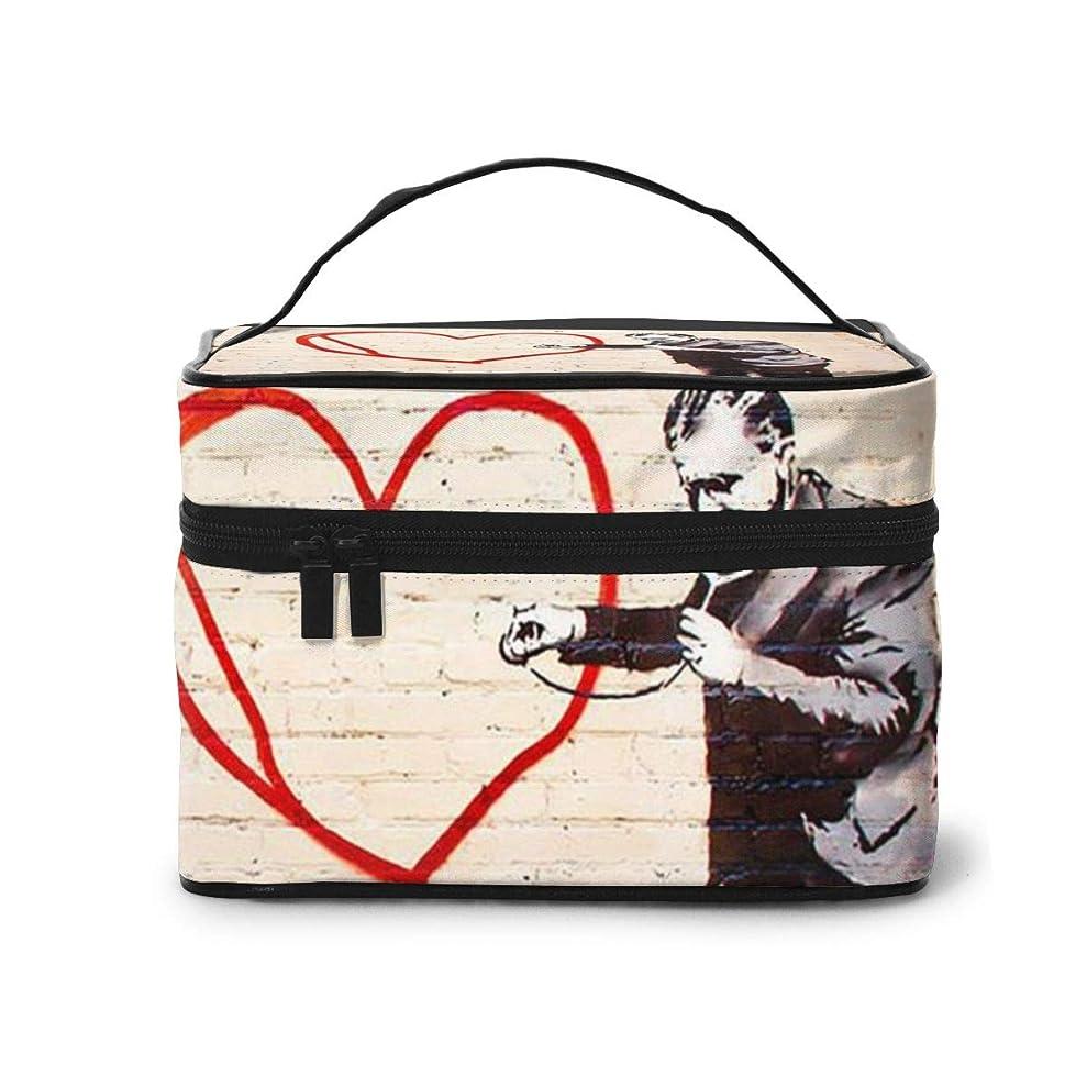 男やもめポスター枯れるメイクポーチ 化粧ポーチ コスメバッグ バニティケース トラベルポーチ Banksy バンクシー 雑貨 小物入れ 出張用 超軽量 機能的 大容量 収納ボックス