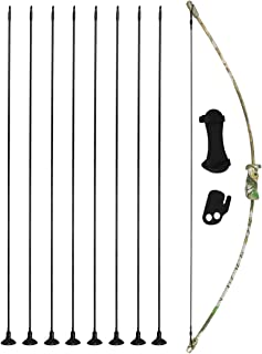 kaimei 37Inch Archery Bow and Arrow Set Recurve Bow camouflage Outdoor Sports Game Hunting Training Toy Gift Bow Kit Set with 8 Arrows with Sucker to Kids Youth