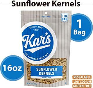Kar's Nuts Sunflower Kernels Snacks - Roasted & Lightly Salted - 16 Oz Resealable Pouch