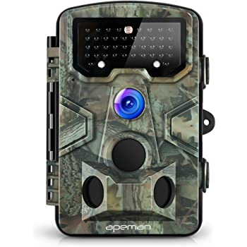 APEMAN Trail Camera 120° Wide Angle Detection Game Hunting Camera 12MP 1080P Wildlife Camera with 44 PCs IR LEDs No Glow Night Capture Design for Wildlife, Farm, and Home Security
