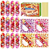 PRETYZOOM Finger Skateboards with Gift Cards for Birthday Party Classroom Exchange Prizes-Mini Finger Skater Fingerboards Kids Children Valentines Party Favors