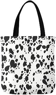 African Women Silhouette Canvas Tote Bag Handbag for Women
