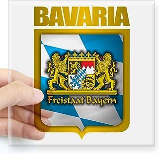 CafePress Bavarian Gold Square Sticker 3 X 3 Square Bumper Sticker Car Decal, 3