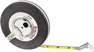 Starrett 530CI-600 Vinyl/Steel Case Black Closed Reel Steel Long Tape, English Graduation Style, 50 feet Length, 0.375
