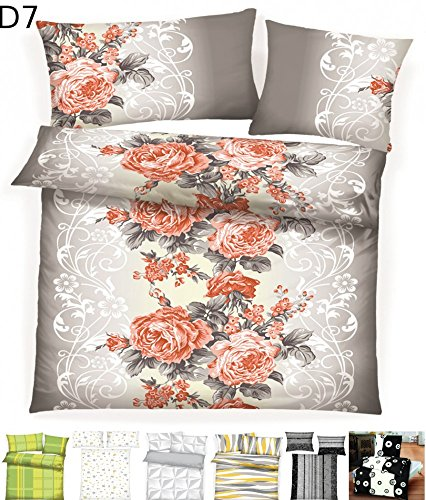 Dreamhome 2 teilige Microfaser warme Winter Thermo Fleece Bettwäsche 135x200 Kissenbezug 80x80, Design - Motiv:Design 7